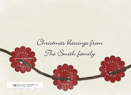 Holiday card #3 back
